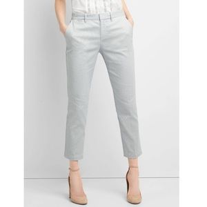 Gap Skinny Crop Khakis in Seersucker